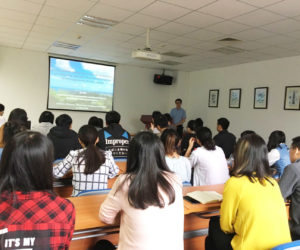 Dr. Jin Wu was invited to give a lecture on May 14th, 2018