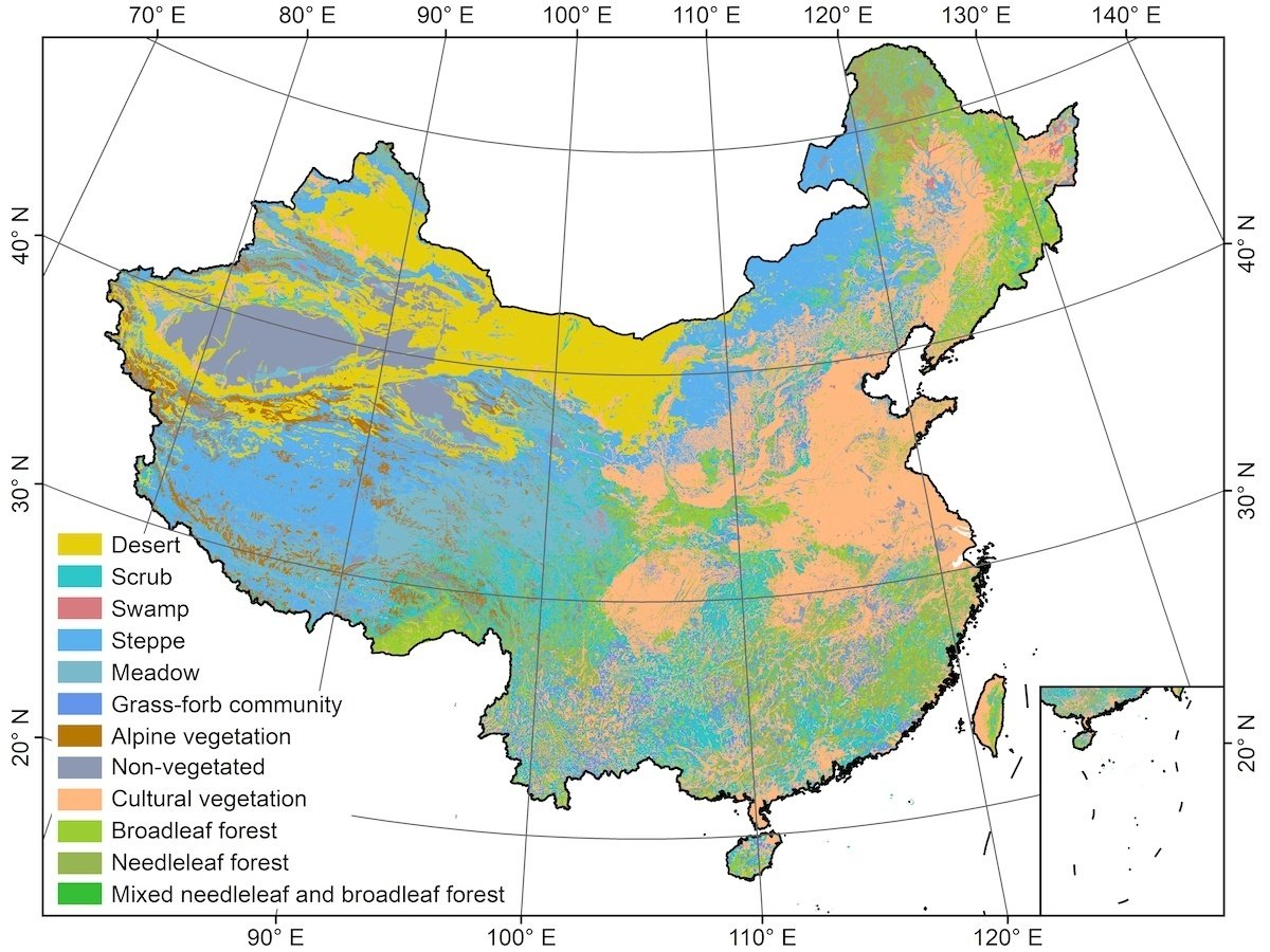 Mapping the new generation Vegetation Map of China